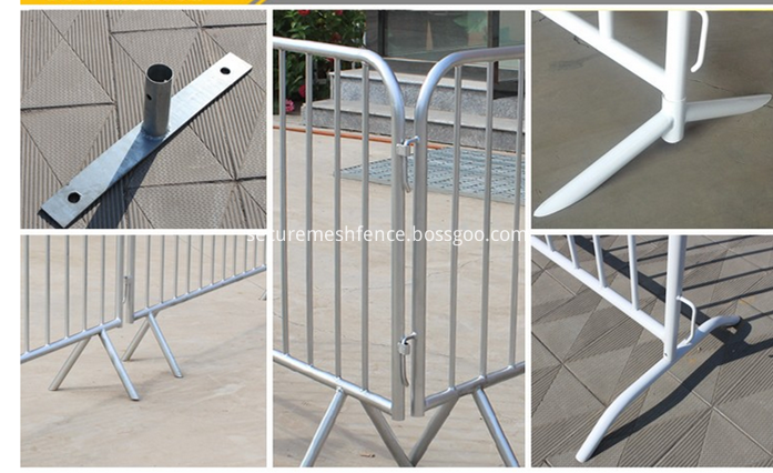 crowd control barriers legs