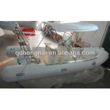 Fiberglass inflatable rib boat 520 with CE