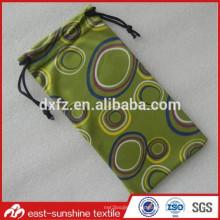 Bolsa de las gafas de sol del microfiber, bolsa de las gafas de sol de Customed, bolso diseñado de los vidrios de la tela