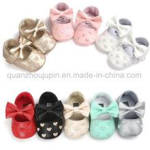 OEM PU Cute Soft Soles Toddler Prewalker Baby Shoes