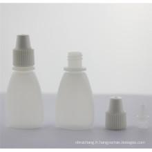 Bouteille en plastique matériau PE pour les ventes du procès