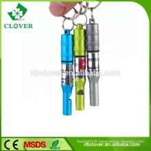 Aluminum alloy multifunctional survival using safety emergency whistle