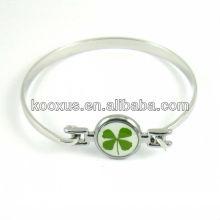 Promoción cuatro brazaletes de la suerte del trébol de la hoja / pulseras