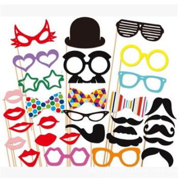 Promoción de la marca FQ barba barata tomar fotos fiesta de Halloween DIY máscara