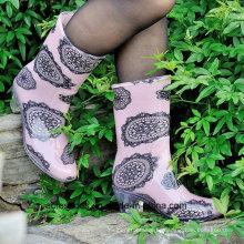 Высокий каблук прозрачный ПВХ дождя сапоги, мода женская обувь