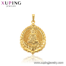 33858 xuping jewelry 24k gold plated Buddhist Culture figure Lotus religious pendant