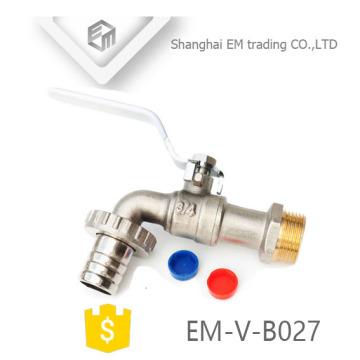 EM-V-B027 Brass Bibcock with Hose Adaptor