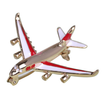 Delicate Small Airplane Brooches For Unisex