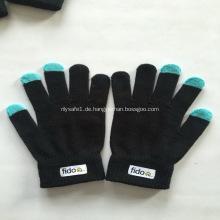 Benutzerdefinierte Screen Touch Handschuhe mit Logo - Schwarz