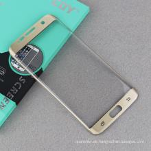Icheckey Brand Großhandel aus gehärtetem Glas Displayschutz Seide-Druck Originalfarbe für Samsung s7 edge