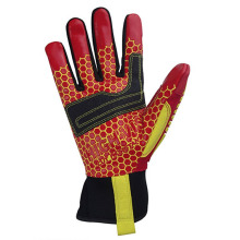 Gants orange de machines de forage de cuisson de confort