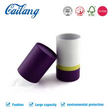 Caixa de papel de lata de forma redonda com tampa