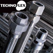 Flexible metal hose for construction. Manufactured by Technoflex Corporation. Made in Japan (flexible hose for kitchen faucet)