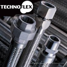 Mangueira de metal flexível para construção e uso industrial. Fabricado pela Technoflex. Feito no Japão (mangueira flexível de fio elétrico)