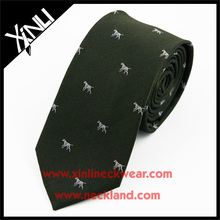 100% Fashion Perfect Knot Handmade Custom Jacquard Woven Cartoon Silk Ties