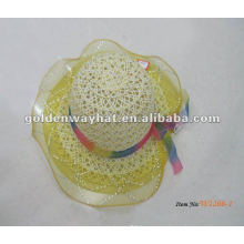 Wholesale baby's party dress hat with lace around