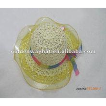 Оптовую шляпу платья партии младенца с шнуровкой вокруг
