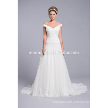 2015 V neck elegant off shoulder wedding party dresses