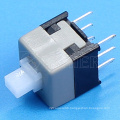 6pin 2 position plastic 220V miniature momentary push button switch