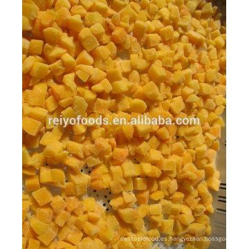 Producto congelado morrones de durazno amarillo 15 * 15mm