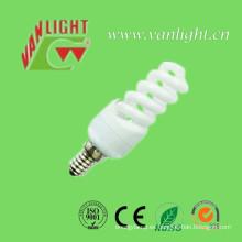 Mini espiral completa T2 11W E14 CFL, lámpara ahorro de energía