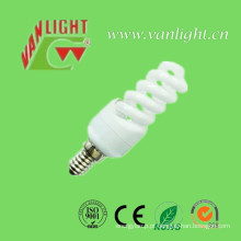 Mini espiral completo T2-11W E14 CFL, lâmpada de poupança de energia
