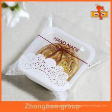 Sachet de plástico transparente a prueba de grasa para mooncake / embalaje de productos horneados