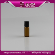 Alta qualidade pequenos frascos de vidro medicina 3ml roll-on garrafa por atacado