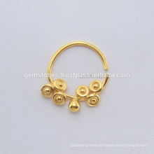 925 Sterling Silber Nase Ring Schmuck, handgefertigte Septum Nase Ring vergoldeten Körper Schmuck Lieferanten