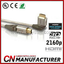 high end rotating HDMI Cable 360