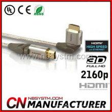Cabo HDMI com rotação de ponta alta 360