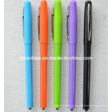 Pluma de Gel plástico coloreado para promoción (LT-Y055)