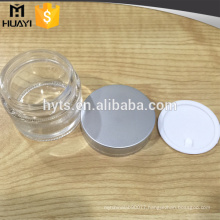 20ml 50ml cosmetic cream glass jar with tap