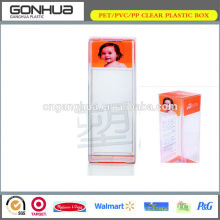 Fashion design soft crease good quality beauty offset printing plastic rectangular box for baby products