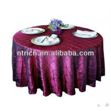 Chameleon pintuck toalha de mesa, tampa da mesa de banquete, toalha de mesa toalhas de mesa/casamento