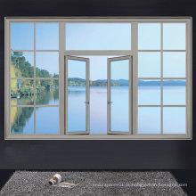Clássico dos janelas de alumínio, série de janela de swing de estilo europeu, Big Window Design