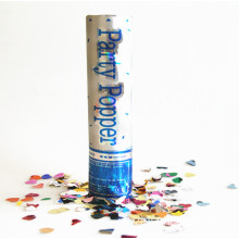 30cm Silber Design Konfetti Party Popper