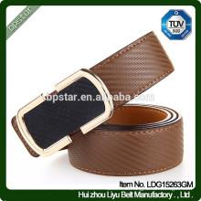 Mann-formale breite Brown-echtes Leder-Gürtel für Geschäft / cintos de couro cinto de couro para homens
