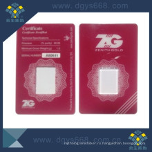 Gold Coin PVC Card Sleeve with Tamper Evident