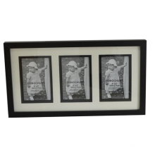 Black Collage Wooden Photo Frame with Matting for Home Deco