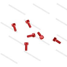Alu 6061 7075, acero inoxidable SS304, titanio, pernos plásticos de nylon