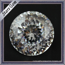 Round Brilliant European Machine Cut Cubic Zirconia Gemstone