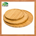 Round Bamboo Snack Tray Food Plate
