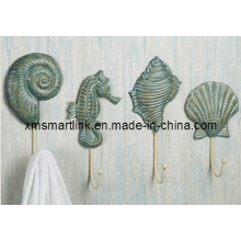 Ocean Shell Wall Hanger, Resin Coat Hanging Hook,