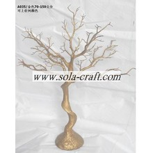 Low MOQ for for Dry Tree Branches 2014 Newly Design Artificial Plastic Gold Wedding Tree  Wholesale From China supply to Tunisia Factories