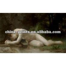 Оптовые сексуальные обнаженные девушки искусство печать на холсте