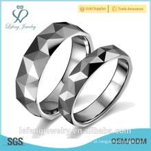 Melhor qualidade jóia personalizada prata tungstênio casal anel de casamento