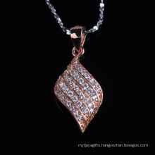 Irregular Shape Fashion Rose Gold Plated Silver Jewelry Necklace