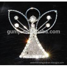 custom angle rhinestone brooch pins