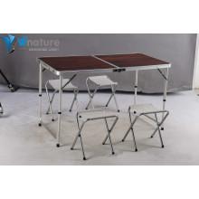 Muebles de camping - Set de mesa y sillas para camping de aluminio